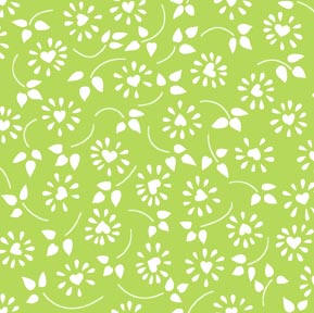 Daisy Heart Green